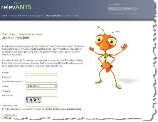 Kostenlos anmelden unter www.relevants.de
