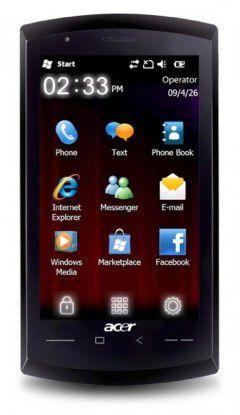 Acer neoTouch: Weiteres Windows-Mobile-Smartphone mit Gigahertz-Prozessor vorgestellt.