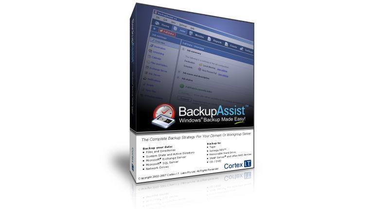 Die Backup- Software BackupAssist von Cortex kostet 190 Euro netto.