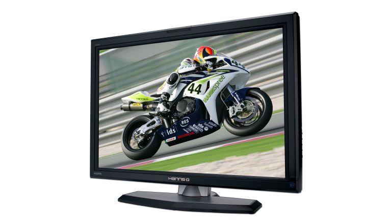 Dank des extra schmalen Rahmens sieht der Monitor fast wie ein Fernseher aus.