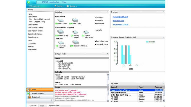 Screenshot Dynamics NAV 5.1.