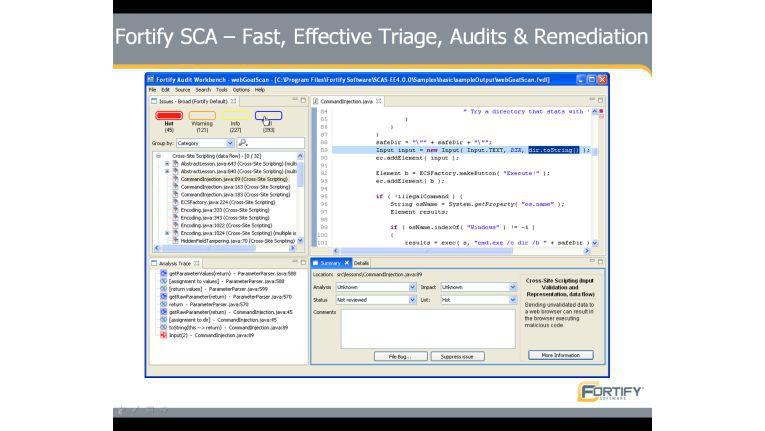 Mit Fortify SCA 5.0 von Fortify können Entwickler bereits während des Programmierens die Sicherheit ihrer Anwendungen überprüfen.
