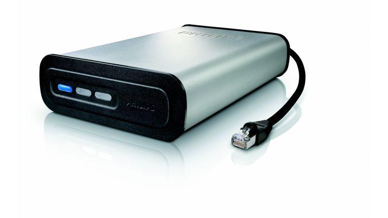 ... das SPD80220CC ist ein NAS-Laufwerk, das als Speicher für alle vernetzten PCs dient.