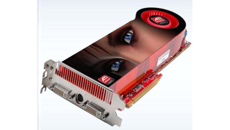Auf AMDs ATI Radeon HD3870 X2 rechnen zwei Grafikchips.