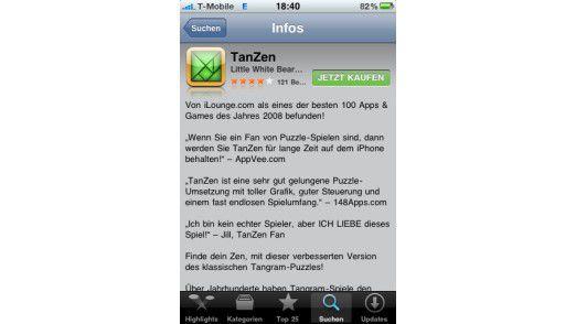 Sie können Apps und Updates direkt per iPhone kaufen.