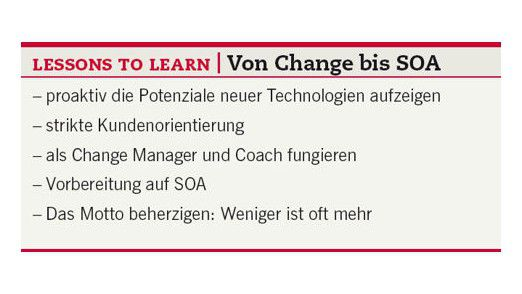 Lessons to learn: Von Change bis SOA.