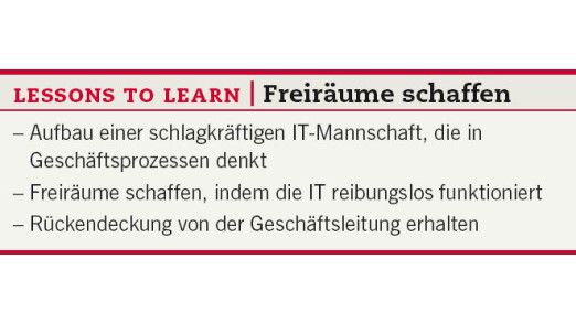 Lessons to learn: Freiräume schaffen.