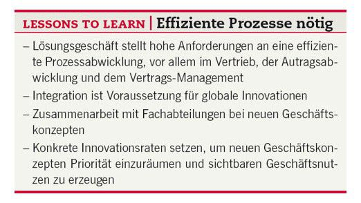 Lessons to learn: Effiziente Prozesse nötig.