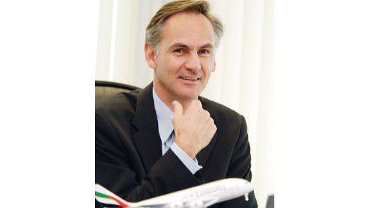 """Patrick Naef, IT-Chef bei Emirates: """"Ein Grund für das Chaos war, dass sich die IT als Dienstleister und nicht als Business-Partner verstand. Es fehlten eine zentrale Sicht auf die IT-Architektur und eine ordnende Hand."""""""