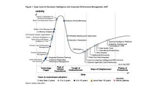 Gartner Hypecycle: Der BI-Markt reift zusehends: Business Intelligence fusioniert mit Performance Management