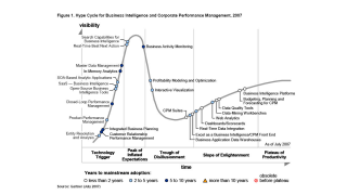 Gartner Hypecycle: Der BI-Markt reift zusehends: Business Intelligence fusioniert mit Performance Management