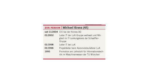 Die Vita von Michael Kranz.