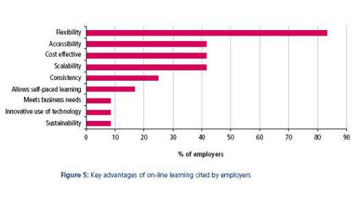 Flexibilität, schneller Zugriff auf Informationen und Wissen sowie geringe Kosten sind die Vorzüge von E-Learning gegenüber klassischen Weiterbildungsmaßnahmen.