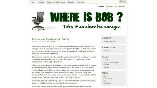 """Alle paar Tage erscheint auf der Homepage Neues zu Bob. (Bildquelle: """"Where is Bob?"""")"""