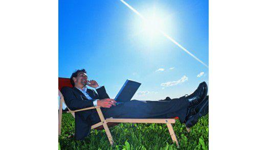 Wer im Urlaub weiterarbeitet, wird kaum abschalten.