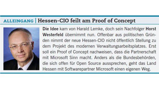 Alleingang: Hessen-CIO feilt am Proof of Concept.