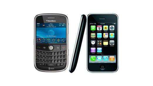 Blackberry versus iPhone - wie die Nutzer ticken.