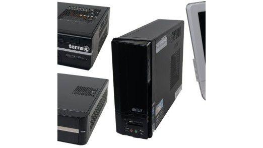 In der Einstiegsklasse ab 300 Euro haben mehrere Hersteller bereits Desktop-PCs mit Intels Atom-Prozessor vorgestellt.