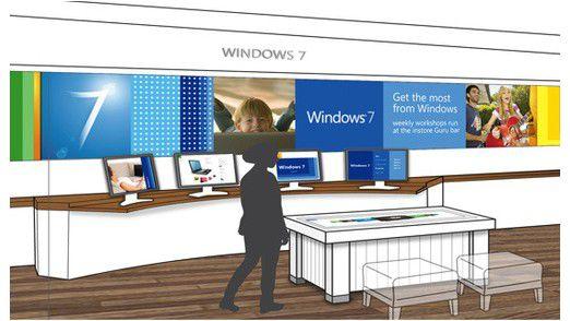Im Internet tauchten Entwürfe der Microsoft-Läden auf (Quelle: Gizmodo.com).