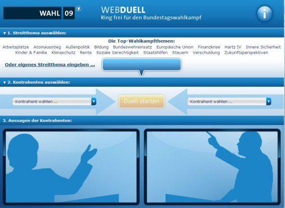 ARD Webduell, Ring Frei für den Bundestagswahlkampf.
