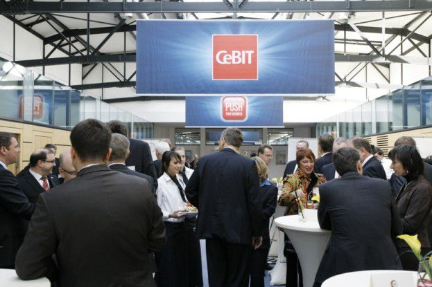 Der Cebit Executive Club auf der Cebit 2010.