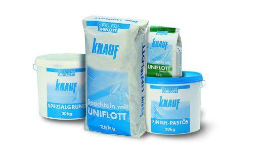 Die Knauf-Gruppe produziert neben Gips noch eine Reihe weiterer Stoffe für den Trockenbau.