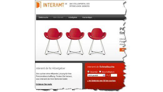 Das Stellenportal interamt.de.