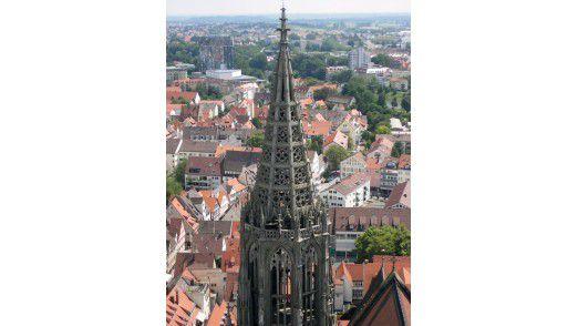 Blick über die Dächer Ulms: Nach der Logik von McKinsey finden Konzerne aus München oder Stuttgart vielleicht hier den perfekten Platz für ihr Rechenzentrum.