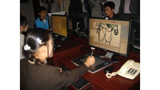 In Nordkorea gibt es mittlerweile gut ausgebildete IT-Spezialisten, wie hier bei der Programmierung von 3D-Animationen.
