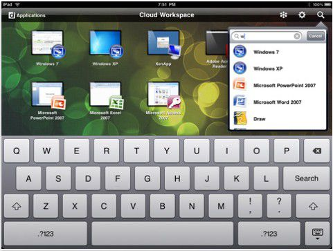 Mit Citrix Receiver können Sie Büroanwendungen auch mobil aufrufen und nutzen.