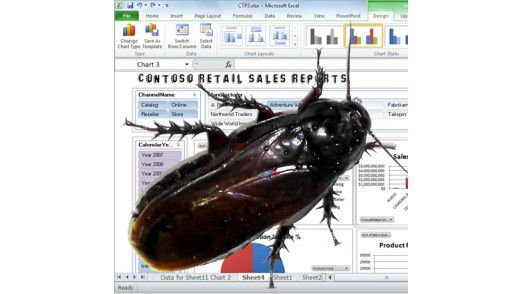 Ungeziefer-Alarm: BI-Experte Thomas Wailgum vergleicht die Verbreitung von Excel mit der von Kakerlaken.