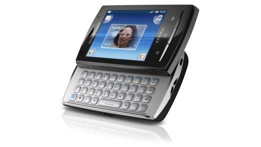 Sony Ericsson Xperia X10 mini pro mit Tastatur für Vieltipper.