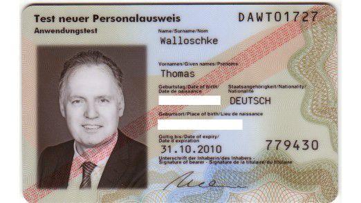 Das aktuelle Testmuster des neuen Personalausweises von Thomas Walloschke.