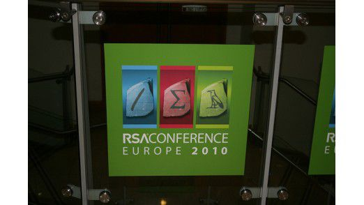 Das Konferenz-Logo. RSA wurde nach den Gründern Ronald L. Rivest, Adi Shamir und Leonard Adleman benannt.