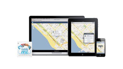 Fundstück: Über MobileMe lässt sich das iPhone auf einer Karte anzeigen.