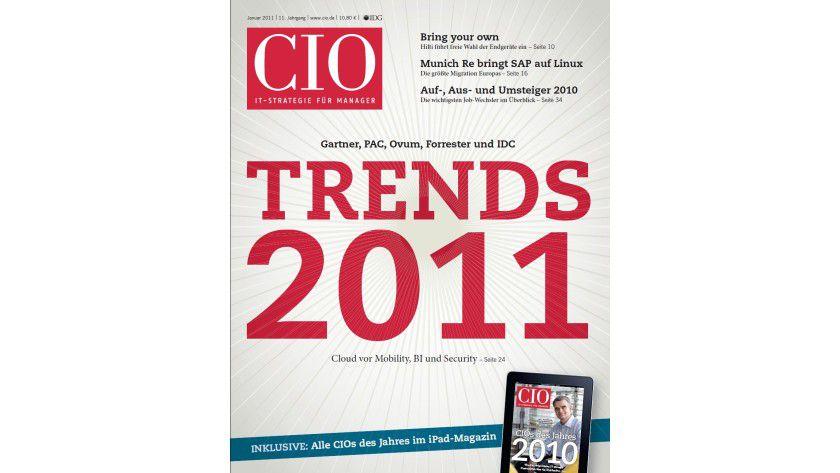 CIO-Magazin 2/2011: Lesen Sie auf 45 Seiten, worauf die Entscheidungen der Top-IT-Manager beruhen.