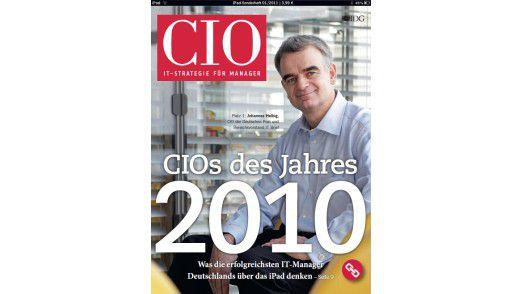 """Das CIO-iPad-Magazin zur Veranstaltung """"CIO des Jahres 2010""""."""