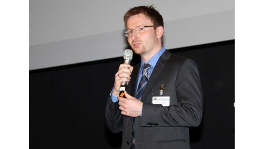 Thomas Henrichs, Projektleiter und IT-Service-Manager bei TNS Infratest, bei der Preisverleihung.