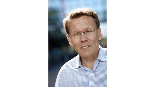 Mika Kotro von EMC stellt Backup-Lösungen vor.