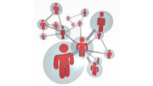 Internetnutzer haben im Durchschnitt 133 Kontakte in sozialen Netzwerken.