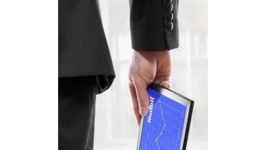 Auf dem Weg ins Büro kommt das Tablet zum Einsatz.