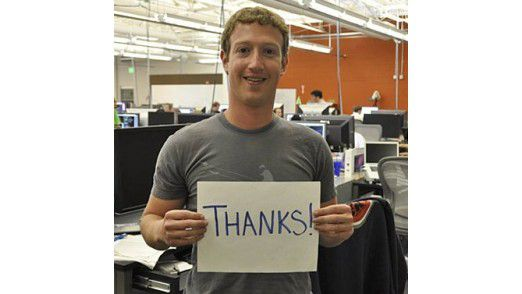 """""""Die Leute verbringen mehr Zeit bei Facebook als jemals zuvor"""", freut sich Mark Zuckerberg."""