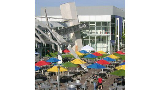 Googleplex, der Unternehmenssitz von Google in Mountain View, Kalifornien.