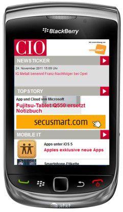 Die erste CIO Blackberry App.