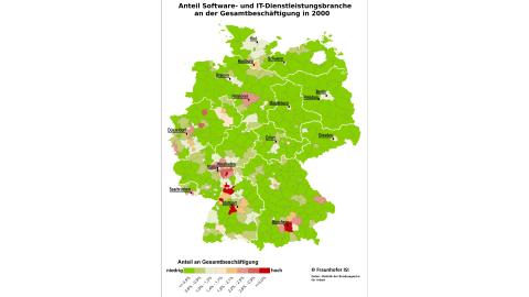 Die Top 25 der deutschen IT-Standorte - Foto: Fraunhofer ISI