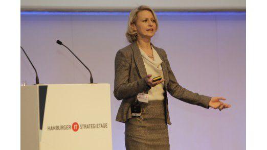 Uta Hahn, Geschäftsführerin der Unternehmensberatung business group munich, auf den Hamburger IT-Strategietagen 2012.
