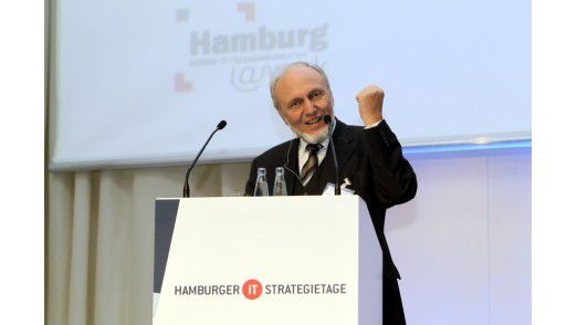 Hans-Werner Sinn auf den Hamburger IT-Strategietagen 2012.