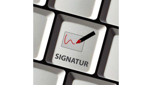 Die elektronische Signatur konnte sich nicht durchsetzen.