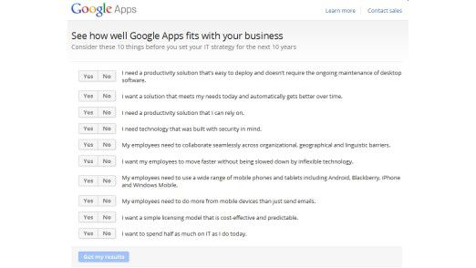 Fragenkatalog von Google, mit dem man erste Überlegungen zum Cloud-Einstieg anstellen kann.