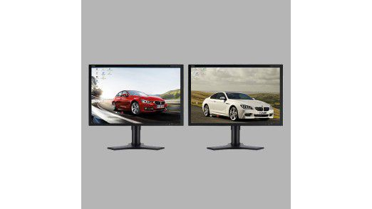 Zwei Monitore, ein Bildschirm.